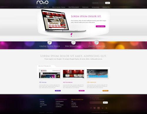 Web design: NOYO webdesign