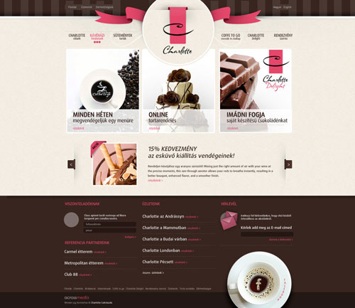 cake and coffe shop site