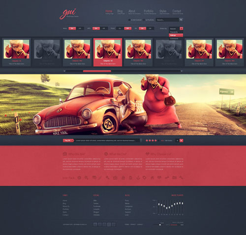 GUI - WordPress Theme
