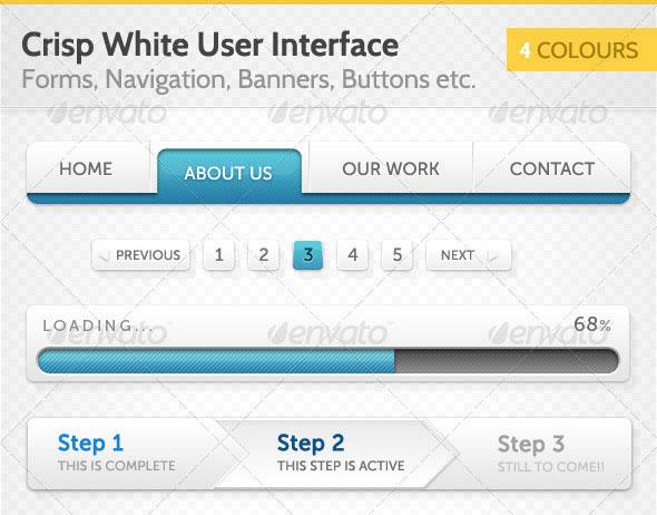Crisp White User Interface (UI)
