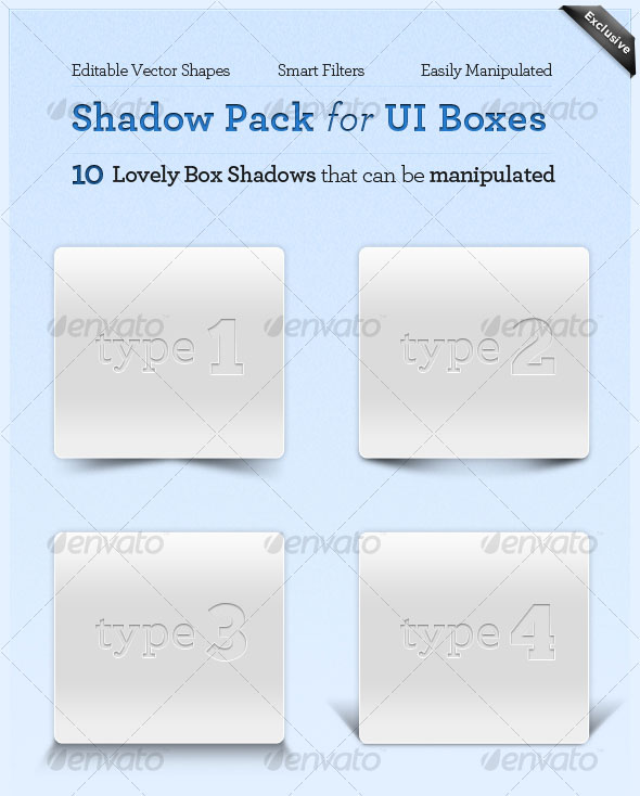 Shadow Pack Collection for UI Boxes