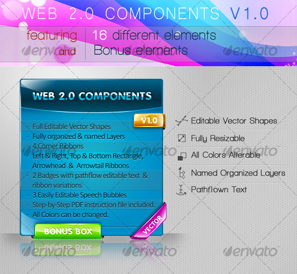 WEB 2.0 UI COMPONENTS V1.0