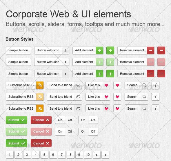Corporate Web & UI Elements
