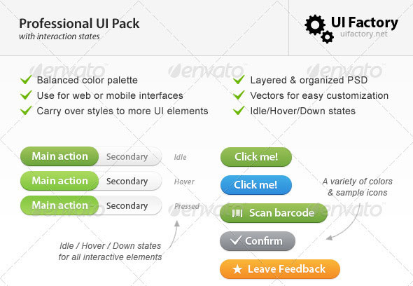 Professional Comprehensive UI Pack