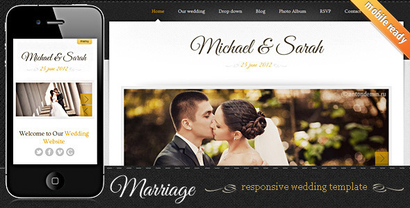Marriage – Responsive Wedding Template