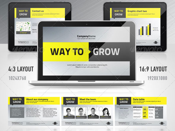Professional Keynote Templates For Business  Web  Graphic