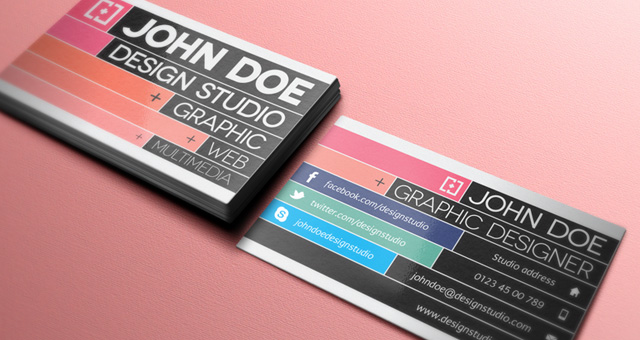 300 free psd business card templates web graphic design bashooka 001 graphic designer business card template vol 2 accmission Image collections