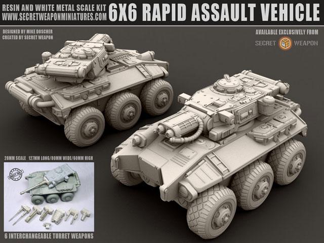 6X6 Rapid Assault Vehicle 28mm Miniature