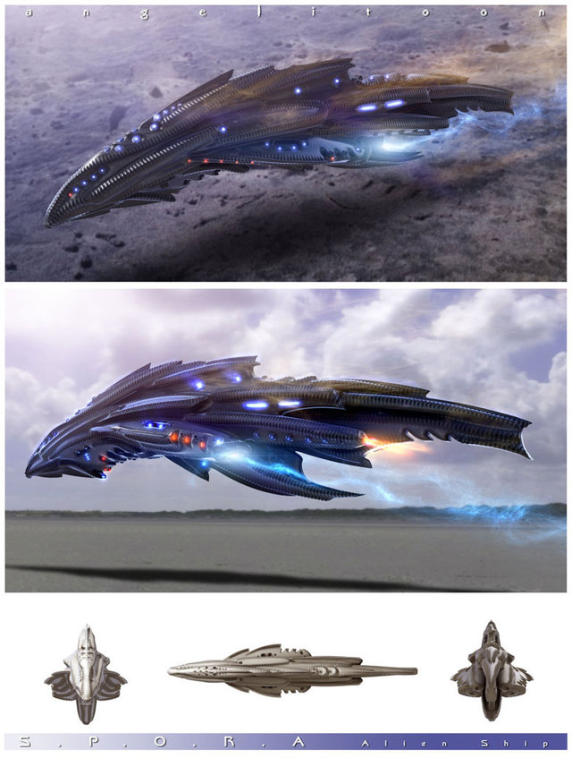 SPORA Alien Ship