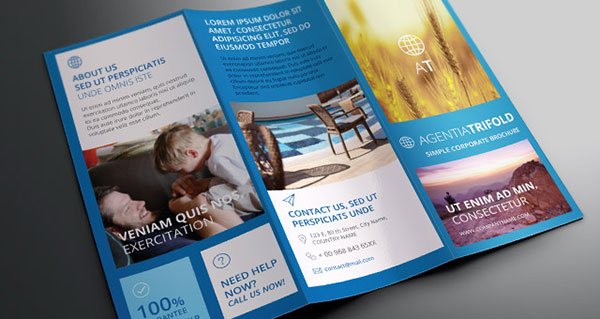 Free PSD InDesign AI Brochure Templates Web Graphic Design - Brochure template tri fold