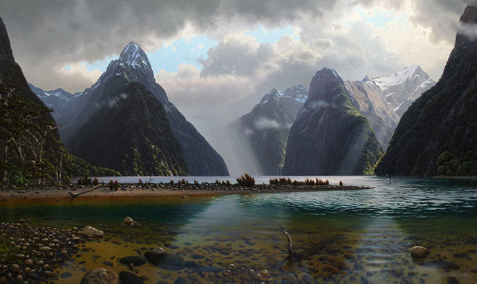 On Milford Sound, Fiordland N.Z.