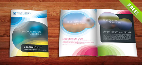 Free PSD InDesign AI Brochure Templates Web Graphic Design - Two fold brochure template free