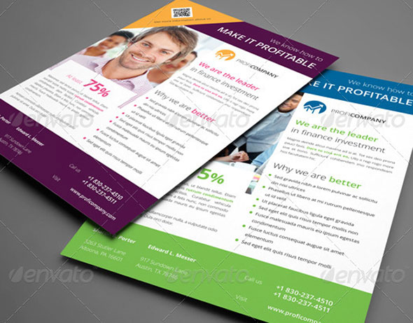 20 indesign flyer templates for business web graphic for Adobe indesign brochure templates