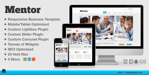 Mentor Premium Responsive Business HTML5 Template