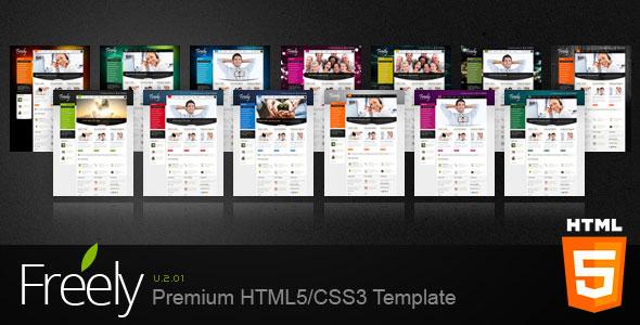 Freely Premium HTML5/CSS3 Template