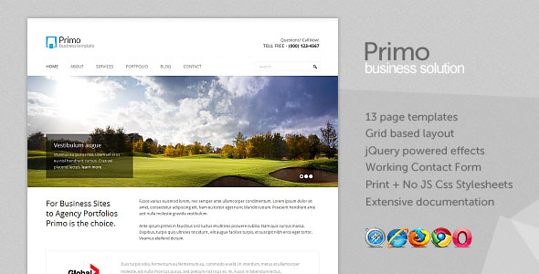Primo - Business / Corporate xHTML Template