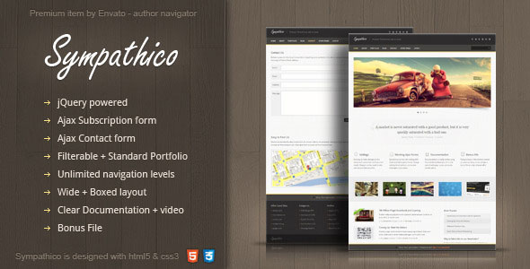 Sympathico - multipurpose site template