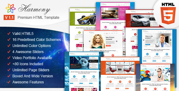 Harmony - Multipurpose HTML5 Template