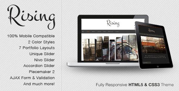 Rising - Fully Responsive HTML5 & CSS3 Theme