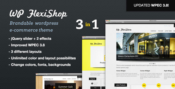 WP FlexiShop  A Versatile WP ECommerce Theme