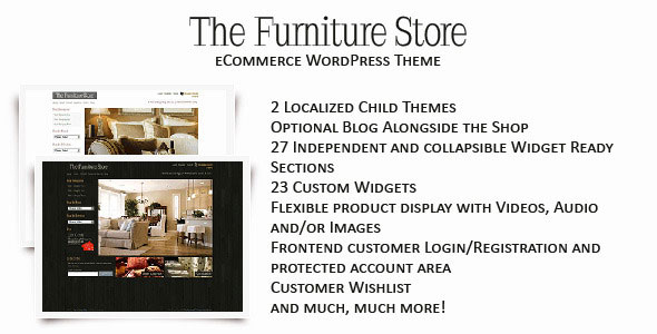 The Furniture Store  WordPress eCommerce Shop