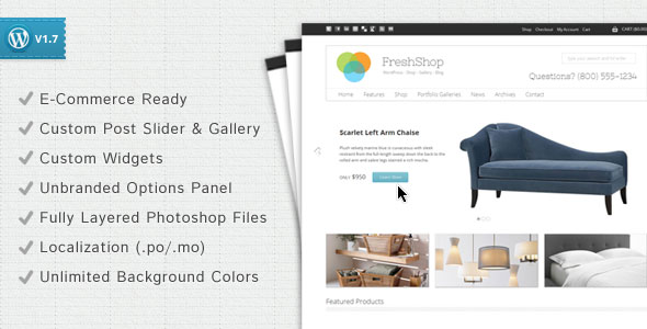 FreshShop  A WordPress ECommerce Theme