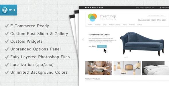 FreshShop  A WordPress ECommerce Theme