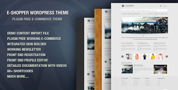 EShopper Plugin Free Premium ECommerce Theme