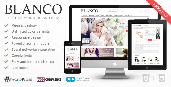 Blanco  Responsive WordPress ECommerce Theme