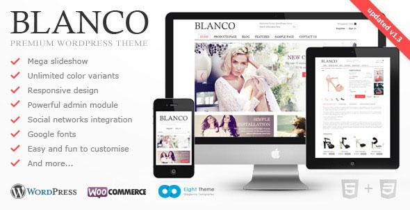Blanco  Responsive WordPress ECommerce Theme