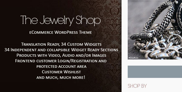 The Jewelry Shop  WordPress eCommerce