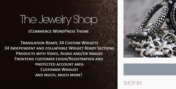 The Jewelry Shop  WordPress eCommerce