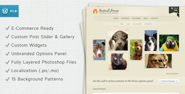 Animal House  ECommerce and Blogging Theme