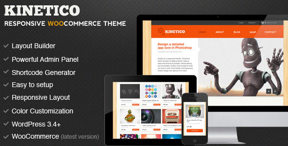Kinetico  Responsive WordPress ECommerce