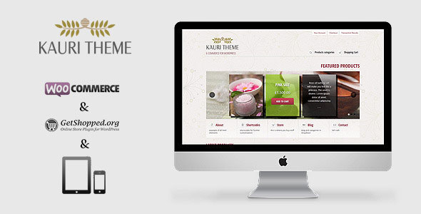Kauri  responsive theme for WP eCommerce