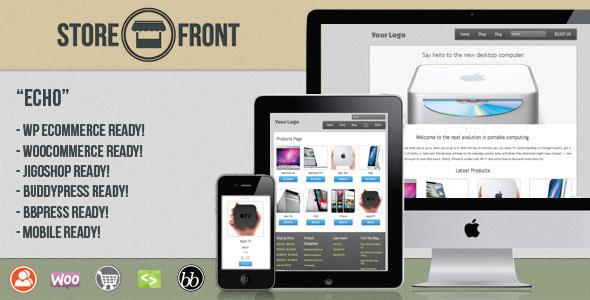 Storefront Echo: Responsive, BuddyPress eCommerce