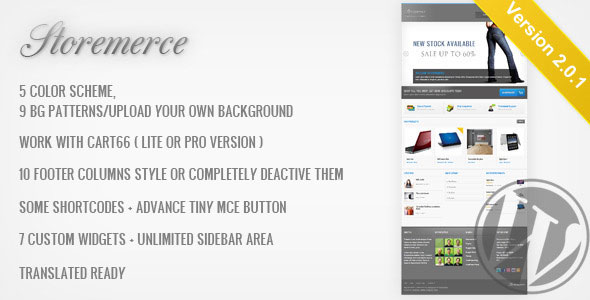 Storemerce  an eCommerce WordPress Theme
