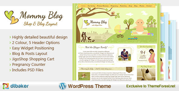 Mommy Blog  Premium WordPress Jigoshop Theme