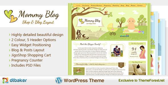 Mommy Blog  Premium WordPress Jigoshop Theme