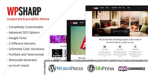 WP Sharp  Premium Business & Portfolio WP Theme