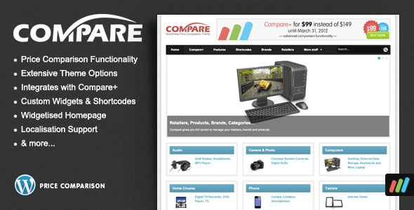 Compare  Price Comparison Theme for WordPress