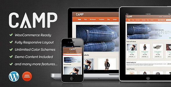 Camp  Responsive eCommerce Theme