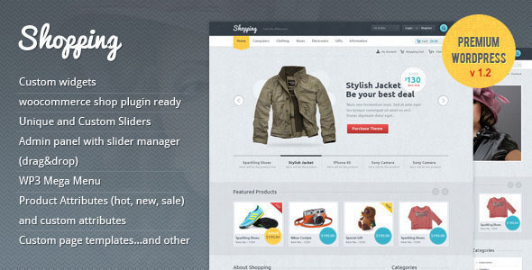 Shopping eCommerce WordPress Template