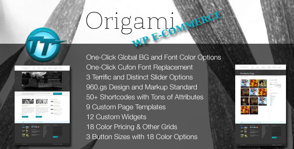 Origami WordPress  WP Ecommerce Theme
