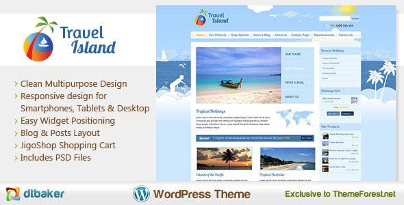 Travel Island  Responsive eCommerce WordPress