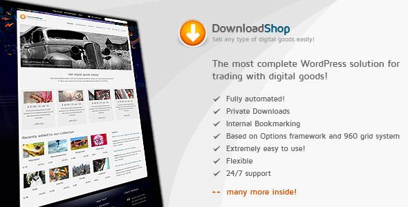DownloadShop  Sell digital goods easily, WP theme