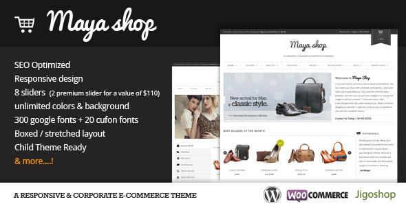 MayaShop  A Flexible Responsive eCommerce Theme