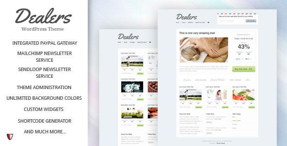 Dealers  Daily Deals WordPress Theme