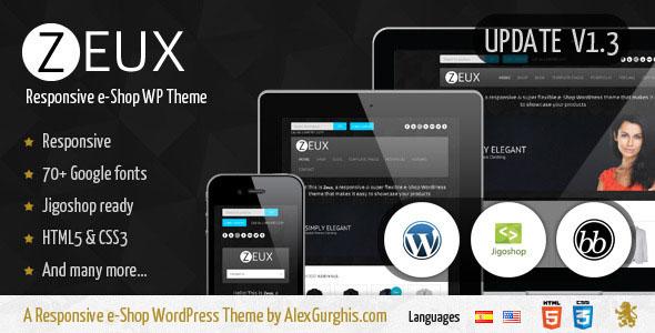 Zeux  A Responsive eShop WordPress Theme