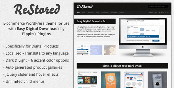 ReStored  WP Ecommerce for Easy Digital Downloads